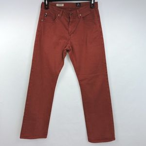 AG The Protege Straight Leg Brick Red Rust Jeans